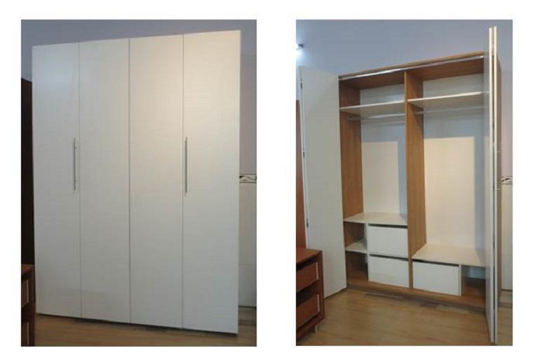 Tủ áo 1m6 kết hợp phụ kiện gấp xếp