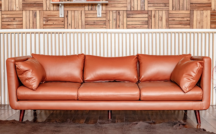 Sofa 3 chỗ da nâu