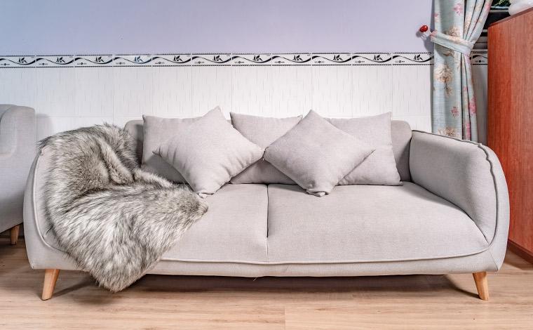Sofa đôi màu xám