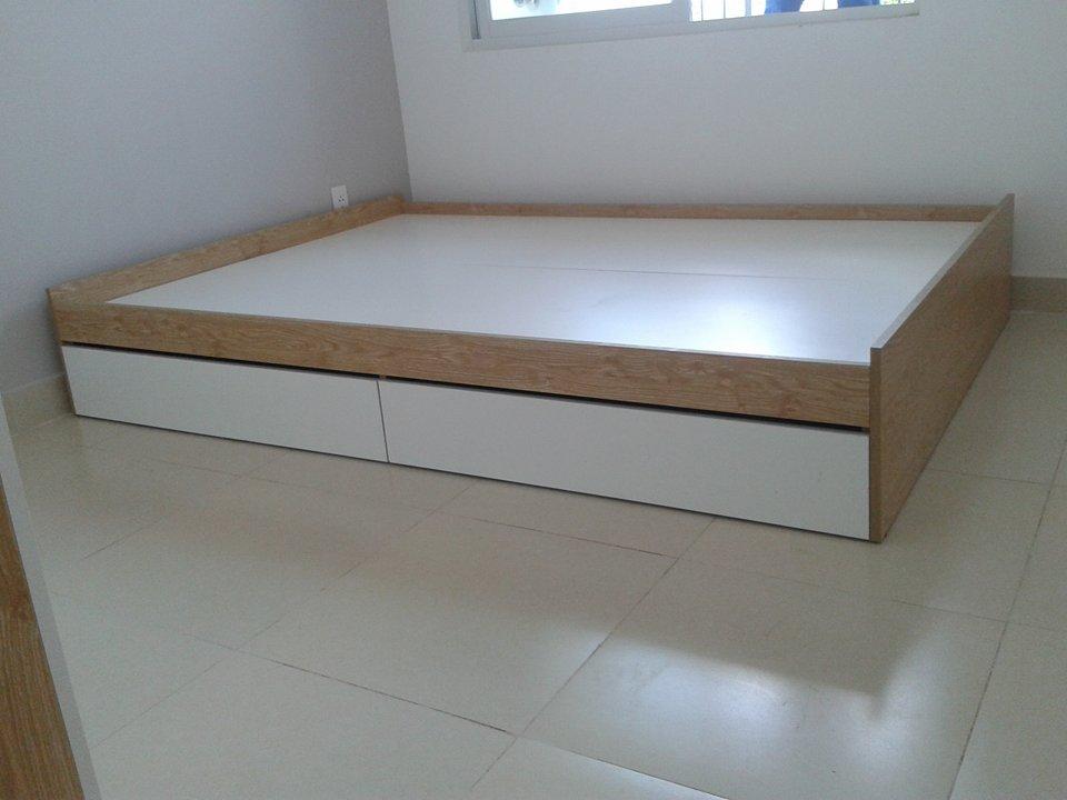 Giường ngủ kiểu nhật 2 hộc kéo