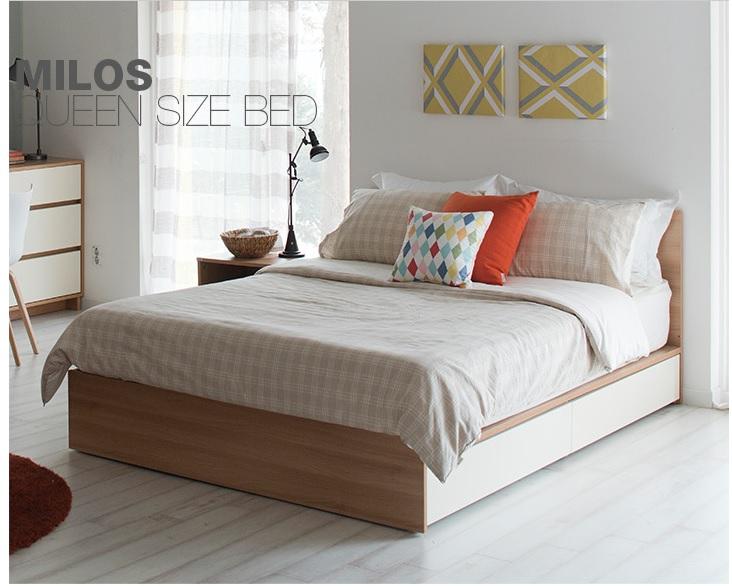 Giường ngủ 2 hộc kéo